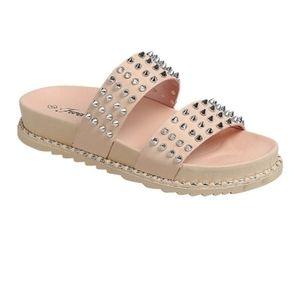 Forever Mauve Silver Studded Sandals